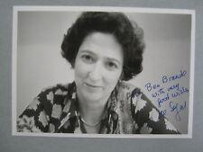 "LORE  SEGAL   Novelist/Actress  Signed   5""  X  7""  Glossy  Black & White  Photo"