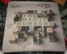 THE MAGIC NUMBERS FULLY HAND SIGNED RECORD STORE PROMO POSTER 2005 with PROOF