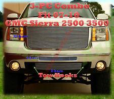 07 08 09 10 2009 2010 GMC Sierra 2500  2500HD 3500 3500HD Billet Grille 3PC