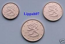 Finland 1, 2 en 5 cent 2010 UNC