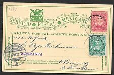 Mexico covers 1896 upated PC Durango to Germany