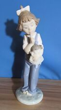 Nao By Lladro Girl With Doll Porcelain Figurine