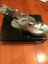 Vintage Michel Perry blue metallic shoes, Italian size 38