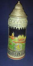 Original King Heidelberg Handpainted Lidded German Beer Stein 1000 R # A 3991