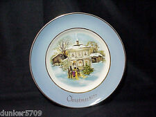 1977 Avon Christmas Plate Series Carollers In The Snow 5Th Ed Enoch Wedgwood