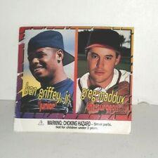 PIZZA HUT MAJOR LEAGUE BASEBALL 1996 CARD KEN GRIFFEY JR GREG MADDUX PREMIUM