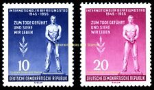 EBS East Germany DDR 1955 International Freedom Fascism Day Michel 459-460 MNH**