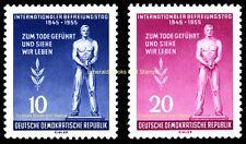 EBS East Germany DDR 1955 International Freedom Fascism Day Michel 459-460 MNH**