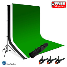 LimoStudio Photography Photo Video Studio Backdrop Background Kit Green White
