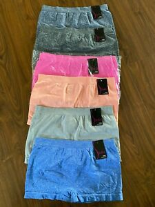 6 PACK Junior / Petite Women's Seamless Boyshorts Panties Underwear 0204SB3
