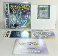 Pokemon Crystal Version GBC Game Boy Color COMPLETE CIB Authentic VERY NICE!