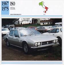 1967-1975 ISO FIDIA Classic Car Photo/Info Maxi Card
