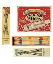 Wooden PICK Up STICKS Mikado Set Retro Traditional Game New Xmas Gift Party Bag