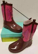 Kid Girls Western Chief Cowgirl Pink Brown Toddler Size US 9M Rain Boot NIB
