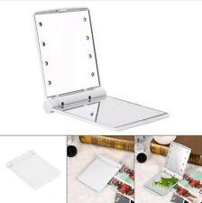 Magic Cosmetic LED Make Up Mirror Folding Portable Compact Pocket 8 LED Lights