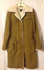 American Eagle Brown Women's Winter Corduroy Sherpa Lined Coat Jacket Medium