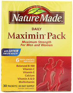 Nature Made Maximin Pack Multivitamin for Active Men and Women 30 Day Supply