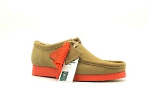 NEW MENS CLARKS ORIGINALS WALLABEE LIMITED EDITION TAN COMBI SUEDE LOW SHOES