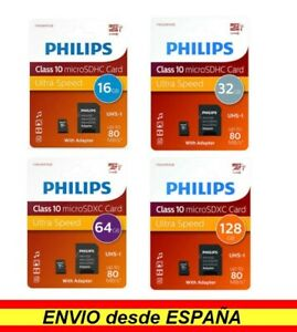 ORIGINAL Tarjeta memoria microsd Micro SD Philips 16gb 32gb 64gb 128gb