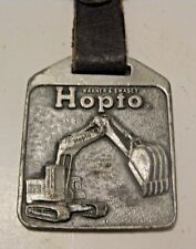 VINTAGE WARNER SWASEY HOPTO CONSTRUCTION EQUIPMENT ADVERTISING POCKET WATCH FOB