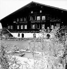 SUISSE c. 1959 - Grand Chalet  Gstaad - Négatif 6 x 6 - Sui 130