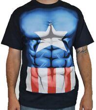 Captain America Muscle Men's T-Shirt - Size M