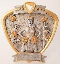 Cheerleader Trophy 3 D Plaque Award Female