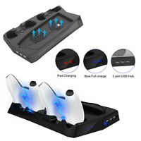 Stand + Cooling Fan + Controller Charging Station + USB Hub fit PS5 UHD/DE A5