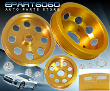 FOR NISSAN 240SX S14 SR20 ENGINE MOTOR BAY GOLD UNDERDRIVE CRANK PULLEY JDM TUNE