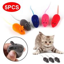 Pet Cat Kitten Squeak Sound Funny Play Mouse Squeaky Playing 5PCS Toys Random