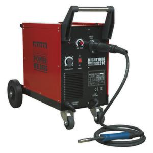 Sealey 210Amp Pro Industrial Gas/Gasless Mig Welder + Euro Torch Mightymig210