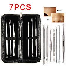 7 PCS Blackhead Whitehead Pimple Acne Blemish Extractor Remover Tool Set Kit UK