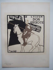 BEGGARSTAFFS - Les Maîtres de l'Affiche - Lithographie Lyceum Don Quixote