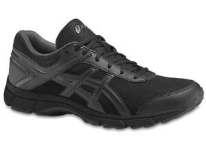Asics Herren Sport Freizeit Fitness Schuhe Gel MISSION 3 Walking Outdoor Schwarz