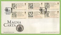 G.B. 2015 Magna Carta set on u/a Royal Mail First Day Cover, Floral
