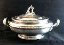 Covered Round Tureen Silverplate Marked LUTETIA O E France 18