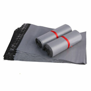"""4 X 7"""" STRONG QUALITY! Grey Plastic Mailing Bags Poly Postage Post Seal Strip"""