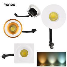 3W Mini Recessed COB LED Ceiling Light Downlight Wardrobe Lights Bulb Lamp New