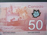 2012 Canada Polymer $50 Bill ERROR NOTE! NEAR-PERFECT CONDITION!