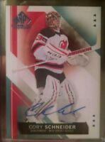 15-16 Sp Authentic Scripted Stoppers Hard Signed Auto Cory Schneider b10