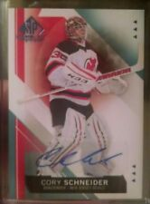 15-16 Sp Authentic Scripted Stoppers Hard Signed Auto Cory Schneider