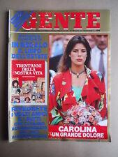 GENTE n°30 1985 Carolina di Monaco Gloria Guida Dorelli  [G392]