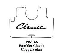 1965 1966 AMC Rambler Cpe / Sdn Trunk Rubber Floor Mat Cover w/ A-090 Classic