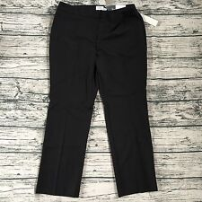 NEW Chico's So Slimming City Chic Slim Leg Black Pants Size 2.5 Short Large L 14