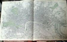 "Map London 26""×16"" Chapman & Hall pub Davies Illst SUDK"