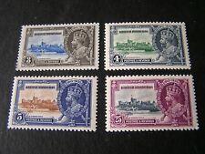 BRITISH HONDURAS, SCOTT # 108-111(4), COMPLETE SET 1935 SILVER JUBILEE MVLH