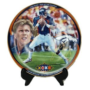 Denver Broncos, John Elway 1997 Super Bowl XXXII, Limited Edition, Signed, Plate