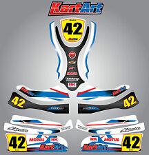 Arrow AX9 full custom KART ART sticker kit STORM STYLE / graphics / decals