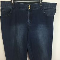Lane Bryant 22 Skinny High Rise Jeans Tighter Tummy Technology Distressed  QQ