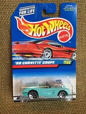 Hot Wheels 1998 1st. Editions '58 Corvette Lt. Green Variation w/ Engine Exposed